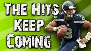 Russell Wilson is (still) a human piñata behind the Seahawks offensive line