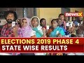 Lok Sabha Elections 2019 Phase 4, State wise results | MP, Maharashtra, Rajasthan, UP, Bengal, Bihar