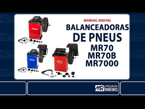 Balanceadora de Rodas Motorizada Mr7000 Mr Ribeiro – 220V - Vídeo explicativo
