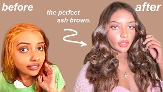 how tiktok made me dye my hair ash brown & it changed my WHOLE look...