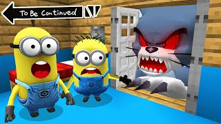 GAINT SCARY TOM vs MINIONS in MINECRAFT ! Real Tom vs Minion Animation - GAMEPLAY Movie Trap