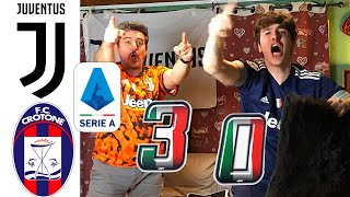 JUVENTUS 3-0 CROTONE   SIUMMM!!! RONALDO!! LIVE REACTION TIFOSI JUVENTINI HD!