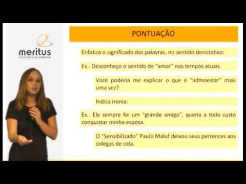Repeat youtube video Português para concurso e vestibular - Curso completo de Pontuação