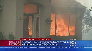 Wine Country Homes Burn In Massive Wildfires