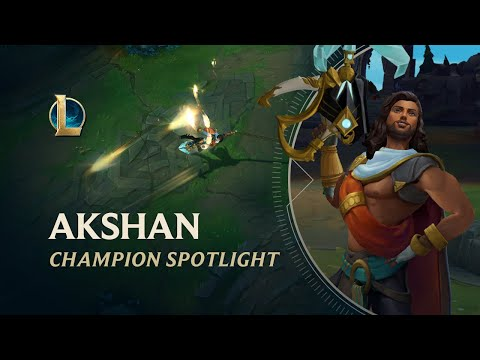 Akshan Champion Spotlight | Gameplay - League of Legends
