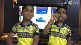 12345 Once I Caught A Fish Alive | Nursery Rhymes by the RoyalTwins LuvKush