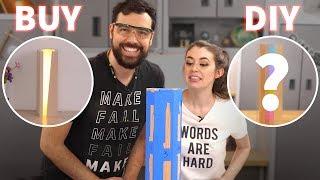 BUY vs DIY - Recreating a Wood & LED Lamp