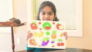 Learn Fruits and vegetables using Puzzles|Toddlers Educational Videos|Learn Colors