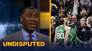 Shannon Sharpe reacts to Gordon Hayward's injury against the Cavaliers | UNDISPUTED