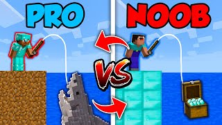 Minecraft NOOB vs. PRO : SWAPPED FISHING CHALLENGE in Minecraft (Compilation)