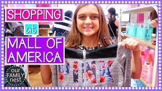 SCHOOL SHOPPING AT THE MALL OF AMERICA | ROAD TRIP DAY FOUR