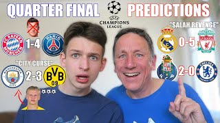 OUR QUARTER FINAL CHAMPIONS LEAGUE PREDICTIONS