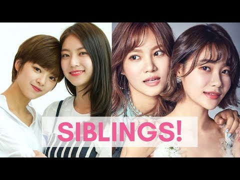 Famous KOREAN Celebrity SIBLINGS!