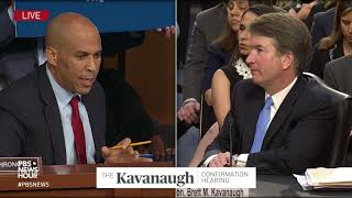 Booker asks Kavanaugh if he respects Trump, and if he'd recuse from cases involving the presidency