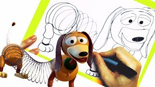 NEW Learn How To Draw Slinky Dog From Disney Toy Story Step By Step Easy Drawing Disney Animation
