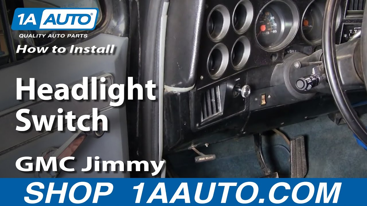 How To Install Replace Headlight Switch Chevy GMC Pontiac ...