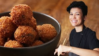 Watch As Jen Makes Japanese Miso and Mushroom Arancini For Pride Month