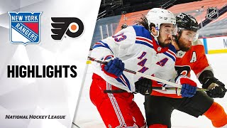 Rangers @ Flyers 2/18/21 | NHL Highlights