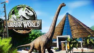 BRACHIOSAURUS WANDERING MAIN STREET | The Abandoned Park (Jurassic World: Evolution)