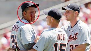 "MLB ""Baseball To The Face""  Moments  ᴴᴰ"