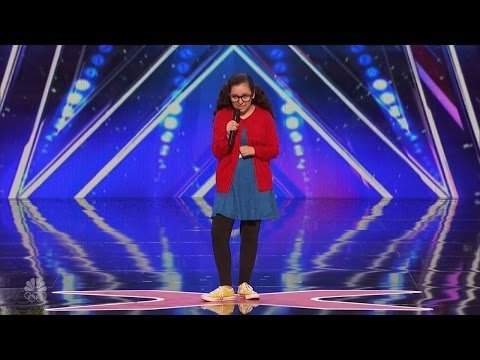 America's Got Talent 2016 13 Y.O. Girl Stand Up Comedian Full Audition Clip S11E03