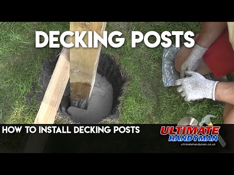 How To Install Deck Posts Decking Posts