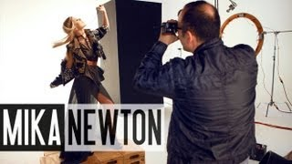 Mika Newton's Photoshoot with Nick Spanos (Behind the Scenes)