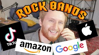 Redesigning large tech companies as Rock Bands! (Now on Spotify)