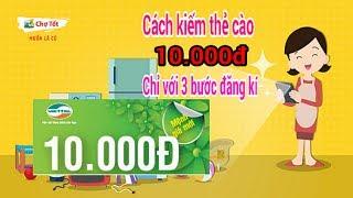 Cách kiếm thẻ cào 10.000đ với chợ tốt chỉ vài phút  - Kiếm tiền hay