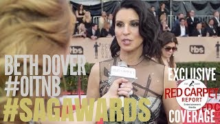 Beth Dover #OitNB interviewed on the 24th Screen Actors Guild Awards Red Carpet #SAGAwards