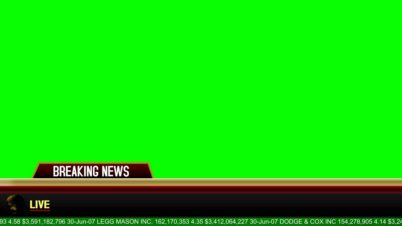 breaking news banner green screen animation youtube. Black Bedroom Furniture Sets. Home Design Ideas