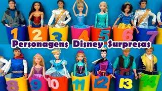 Príncipes e Princesas Disney - Escolha 2 nùmeros e vamos brincar  !!