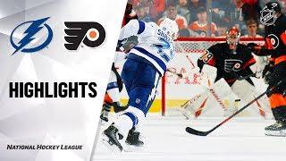 NHL Highlights | Lightning @ Flyers 1/11/20