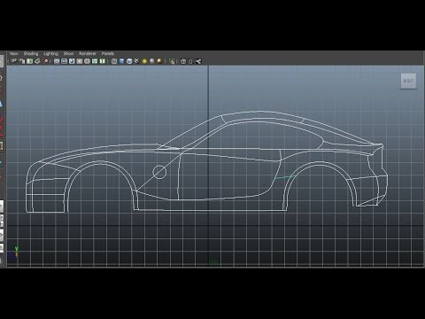 Maya tutorial car modelling audi r8 3d blueprint musica movil maya vehicle modeling 2 spline cage 1 malvernweather