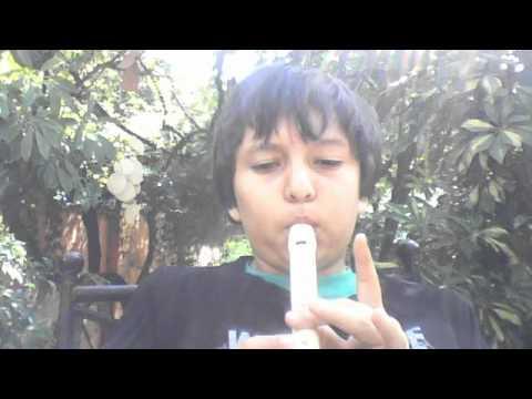 rin del angelito en flauta dulce
