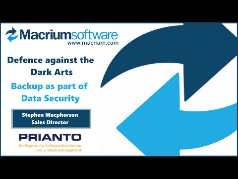 Storage, Security & Cloud Summer Forum 2016 - Macrium Software