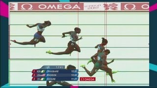 Jeter, Fraser-Pryce & Okagbare Win 100m Semi-Finals - Replay - London 2012 Olympics