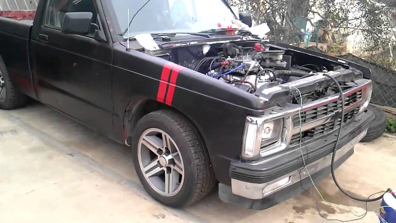 1992 Chevy S10 With Carbed Sbc 350 Vortec Youtube