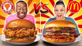 POPEYES VS MCDONALDS FOOD CHALLENGE