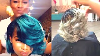 SUPREME SILK PRESS and COLOR Compilation! | Silk Press on Natural Hair
