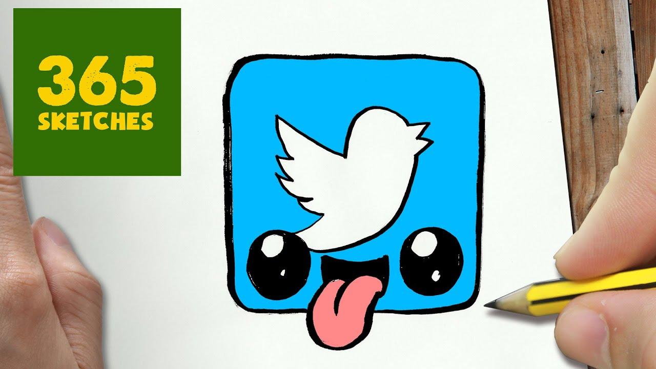 Como Dibujar Logo Twitter Kawaii Paso A Paso Dibujos Kawaii