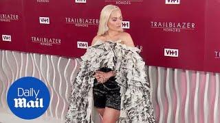 Rita Ora rocks ruffled romper on VH1 Trailblazer Honors carpet