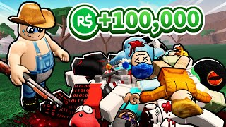 Roblox contest for 100,000 robux against some idiots