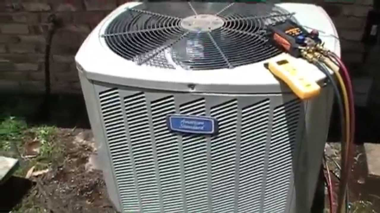 Hvac Service American Standard Compressor Replacement