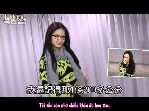 Vietsub : 2013.02. Phỏng vấn Lâm Y Thần về đan khăn