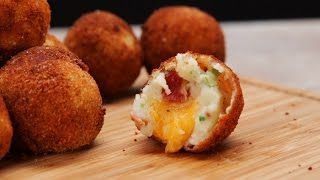Loaded Cheese Stuffed Mashed Potato Balls