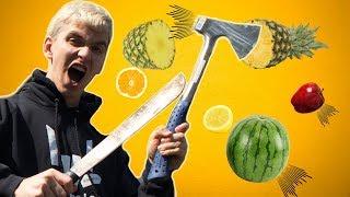 FRUIT NINJA TRICK SHOT BATTLE vs. STEPHEN SHARER