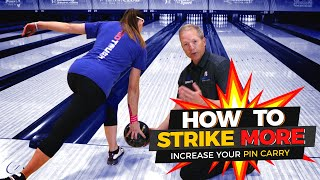 How To Throw More Strikes in Bowling. One Easy Tip For Higher Scores.