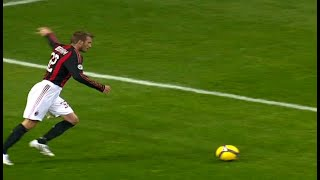 The Day Beckham Scored His 1st Free Kick for Milan