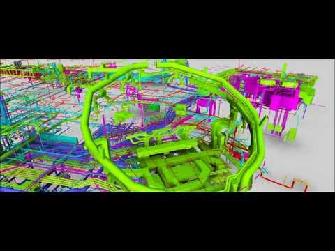 Miami Science Museum - Fire Sprinkler 3D BIM NAVIS Fly Through - 2015 Video #2